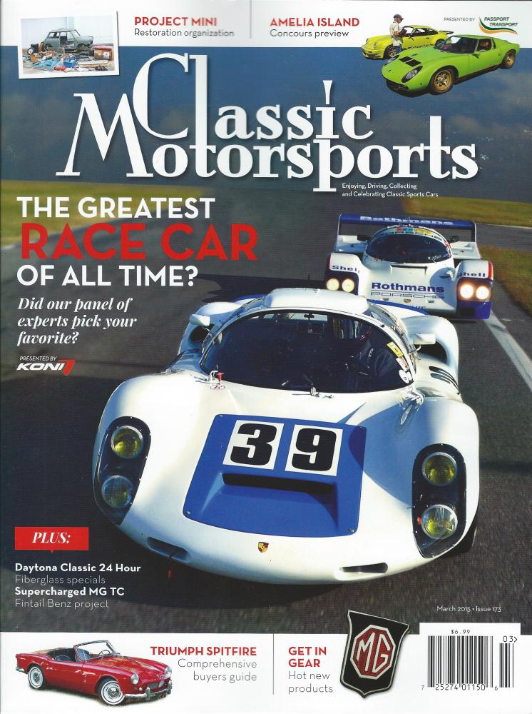 Classic Motorsports Magazine Cover
