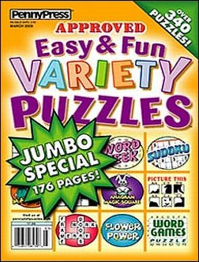 Easy & Fun Variety Puzzles Magazine Cover