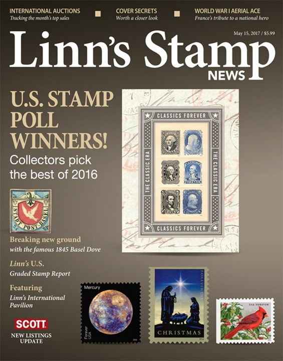 Linn's Stamp News Monthly Magazine Cover