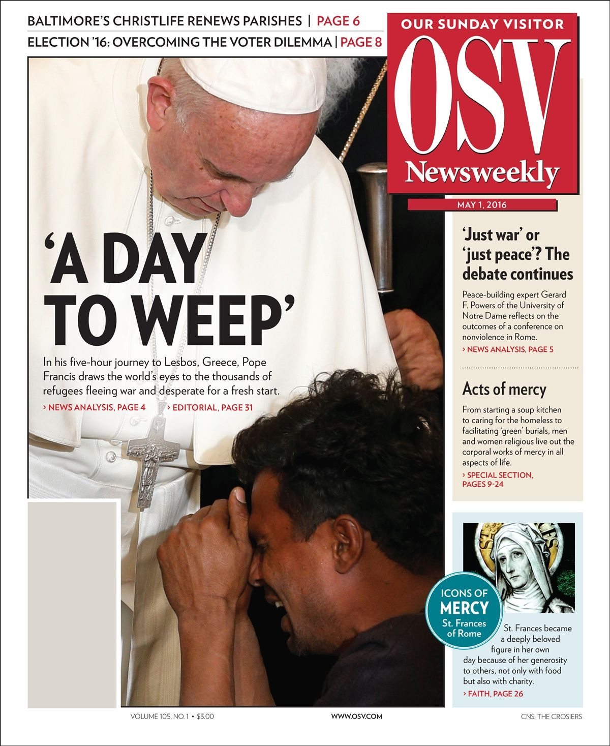OSV Newsweekly Magazine Cover
