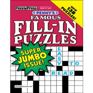 Penny's Famous Fill-In Puzzles Magazine Cover