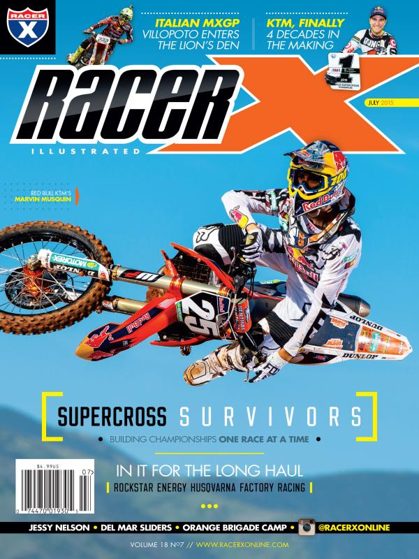 Racer X Illustrated Magazine Cover