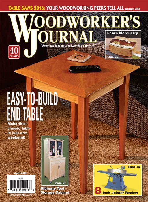 Woodworkers Journal Magazine Cover